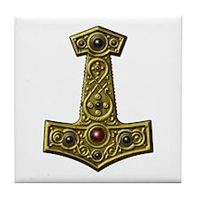 Thor's Hammer X - Gold Tile Coaster