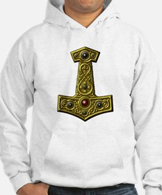 Thor's Hammer X - Gold Hoodie