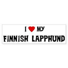 I Love My Finnish Lapphund Bumper Bumper Sticker
