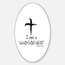 Cute Whosoever Sticker (Oval)