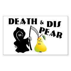 Dis Pear Sticker (Rectangle)