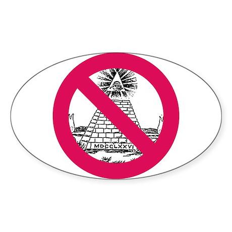 Oval Sticker with No NWO