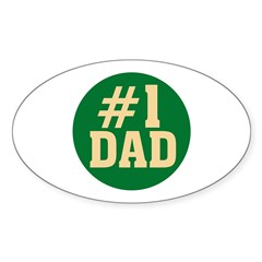 #1 Dad Oval Decal