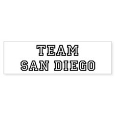 Team San Diego Bumper Bumper Sticker