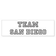 Team San Diego Bumper Bumper Sticker