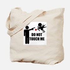 Do Not Touch Me Cupid Tote Bag