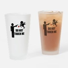 Do Not Touch Me Cupid Pint Glass