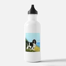 Landseer on the Beach Water Bottle