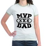 MVP Dad Father's Day Jr. Ringer T-Shirt