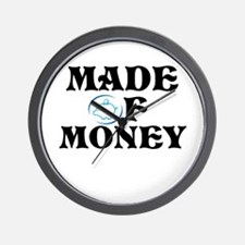 Made Of Money Wall Clock