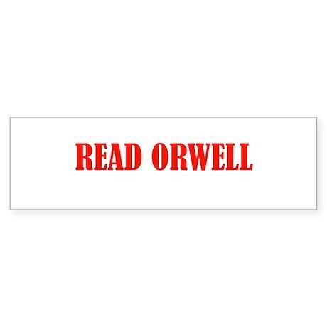 Read Orwell bumper sticker