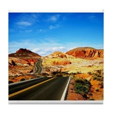 Valley of Fire Tile Coaster