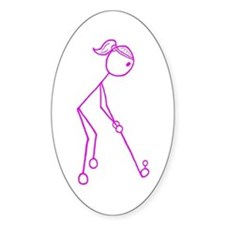 Pink Golfing Girl No Words Decal