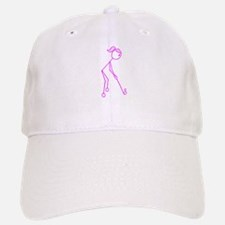 Pink Golfing Girl No Words Baseball Baseball Cap
