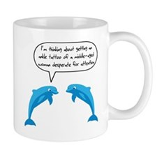 Dolphin Tattoo Woman Midlife Mug