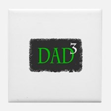 Dad 3 Tile Coaster