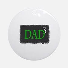 Dad 3 Ornament (Round)