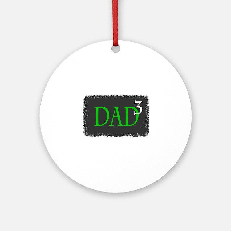Dad 3 Ornament (Round)