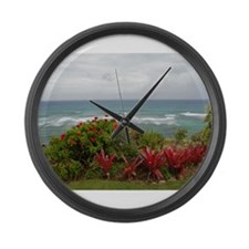 Hawaiian Coastline Large Wall Clock