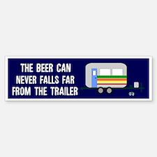 The Beer Can Doesn't Fall Far Bumper Bumper Sticker