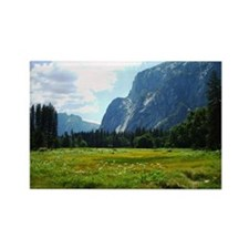 Yosemite Meadow Rectangle Magnet