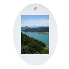 Shasta Lake Ornament (Oval)