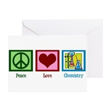 Peace Love Chemistry Greeting Card