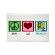 Peace Love Chemistry Rectangle Magnet