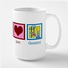 Peace Love Chemistry Large Mug