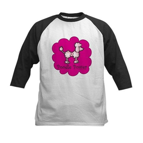 Poodle Power Kids Baseball Jersey