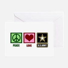 Peace Love Army Greeting Card