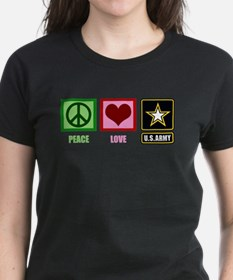 Peace Love Army Tee
