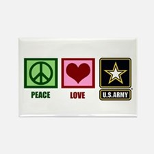 Peace Love Army Rectangle Magnet