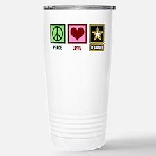 Peace Love Army Travel Mug