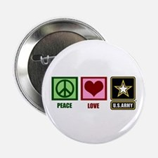 """Peace Love Army 2.25"""" Button"""