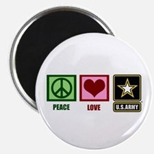 Peace Love Army Magnet
