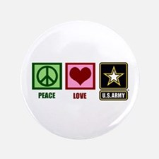 """Peace Love Army 3.5"""" Button"""