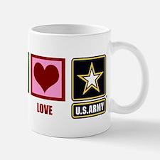 Peace Love Army Mug