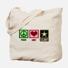Peace Love Army Tote Bag