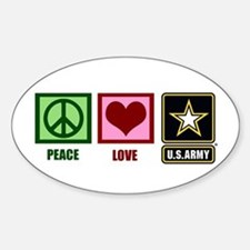 Peace Love Army Decal