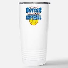 Girls Softball Travel Mug