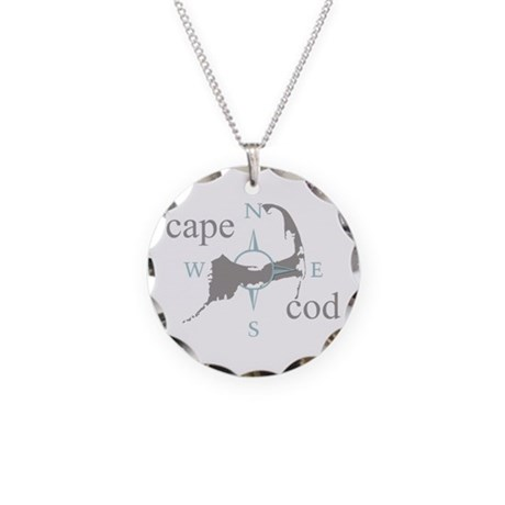 Cape Cod Compass Necklace Circle Charm