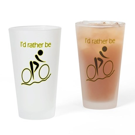 I'd Rather be Cycling Pint Glass