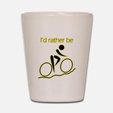 I'd Rather be Cycling Shot Glass