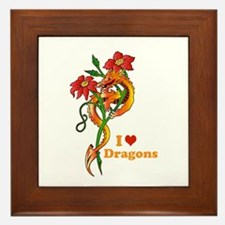 Dragon Dance Framed Tile