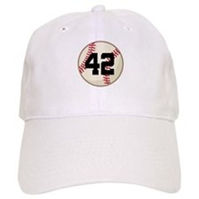 Baseball Player Number 42 Team Baseball Cap