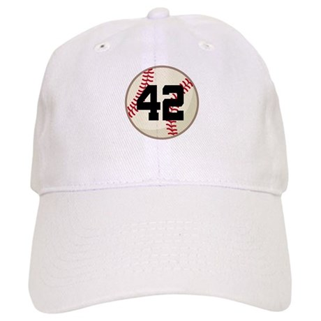 Baseball Player Number 42 Team Cap