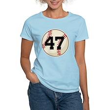 Baseball Player Number 47 Team T-Shirt