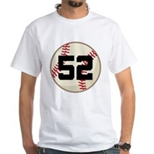 Baseball Player Number 52 Team Shirt