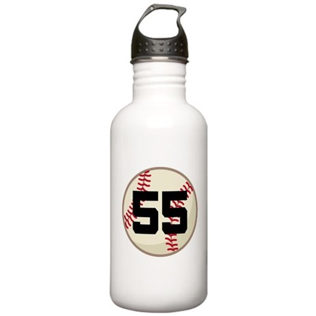 Baseball Player Number 55 Team Stainless Water Bot